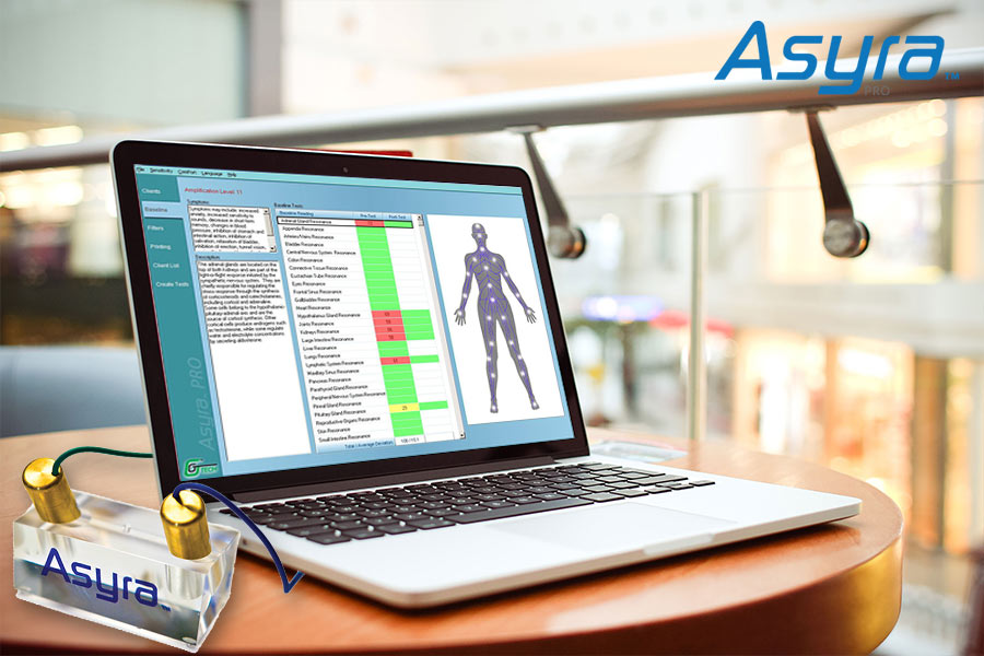 The Asyra Pro, full body analysis for optimum health & wellbeing